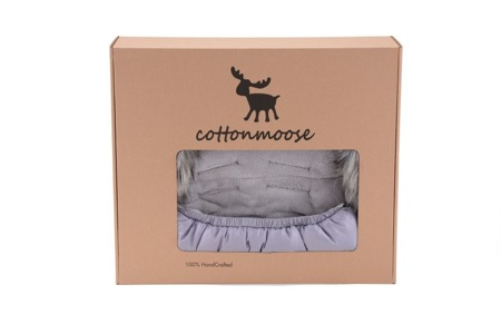 COTTONMOOSE Śpiworek Mini Moose -  szary/szary